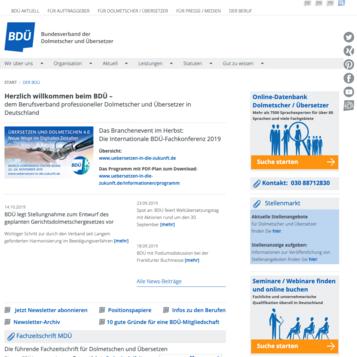 Bundesverband der Dolmetscher und Übersetzer e.V. (BDÜ)
